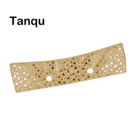 TANQU New Summer Classic Mini Wood Grain Trim PU Floral Shiny Line Thin Decoration For Obag