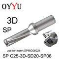 SP C25-3D-SD20-SP06 indexable insert drill U Drilling 3D мелкое отверстие 20 мм SP drill SPMG060204 охлаждающее отверстие оригинальная фабрика
