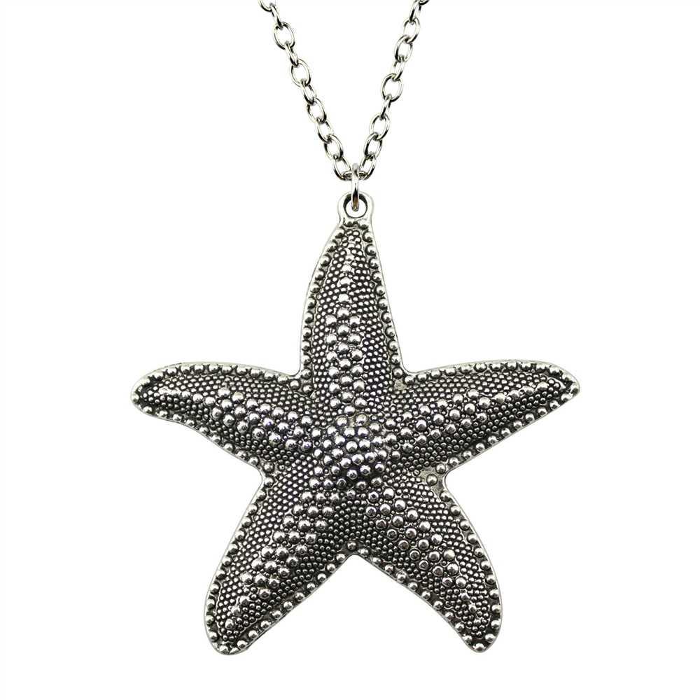 Мода 67*63 мм (2,64*2,48 дюймов) Большая подвеска Морская звезда короткая/Длинная цепочка ожерелье ювелирные изделия для женщин