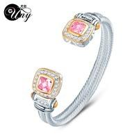 UNY Bracelet Twisted Wire Cable Bangle Fashion Designer Brand inspired jewelry Antique Bangles Elegant Christmas Gift Bracelets bangle brand bangle designer bangles fashion -