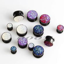 2016 new fashion stainless steel ear plugs flesh tunnels piercing body jewelry gauges expander sell by pair 2pcs lot