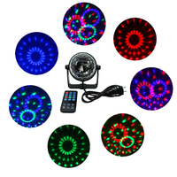 Mini 3W Led Stage Light With Wireless Remote AC85 265V Sound Activated Crystal Disco Ball Light