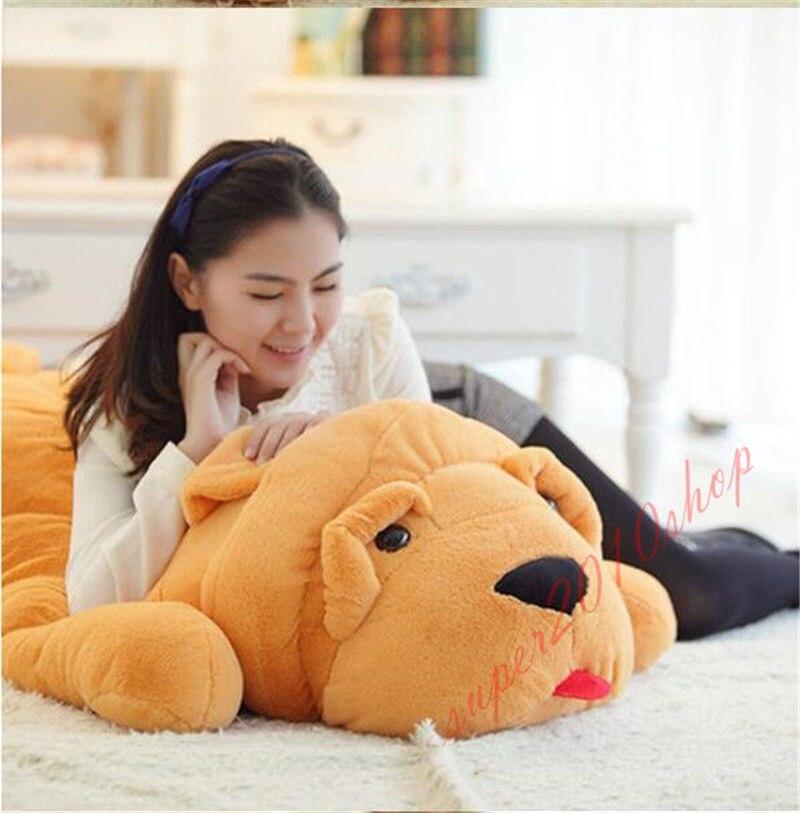 80cm 32 pouces grand chien de haute qualité en peluche doux en peluche oreiller/coussin cadeau
