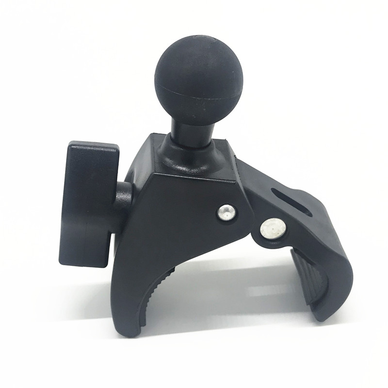 Motorcycle Bicycle Handle Bar Rail Mount Handlebar Clamp with 1 inch Ball Mount for Gopro Action Camera for Ram MountMotorcycle Bicycle Handle Bar Rail Mount Handlebar Clamp with 1 inch Ball Mount for Gopro Action Camera for Ram Mount