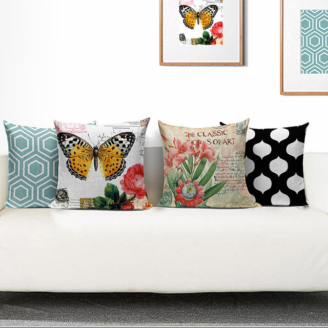 Wholesale Wedding Gift Pillow Cover Paris London Tree Butterfly Inspiration Decorative Pillow Covers Wholesale