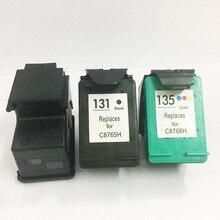 3PCS For HP 131 135 Ink Cartridges for DESKJET 6540 6540D 6540DT 6543 PSC 1500 1510 1513 1600 1610 2300 2600 2610 C3183