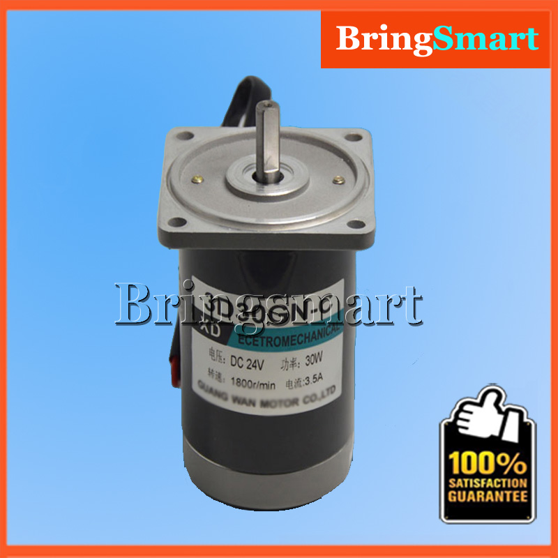 3D30GN-CC 24V DC Permanent Magnet Motor 30W 1800RPM Gear Motor Adjustable Speed Reversible Electric Engine High Torque купить дешево онлайн