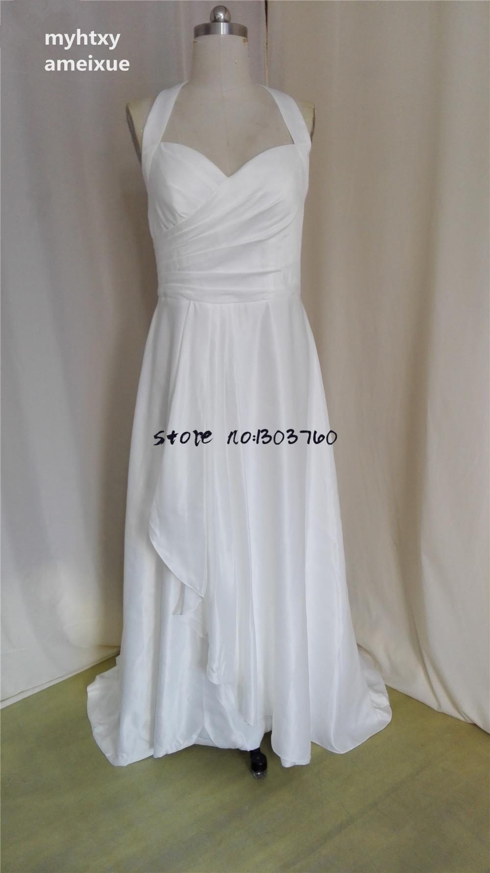 Online Get Cheap Simple Halter Wedding Dress Aliexpress Com