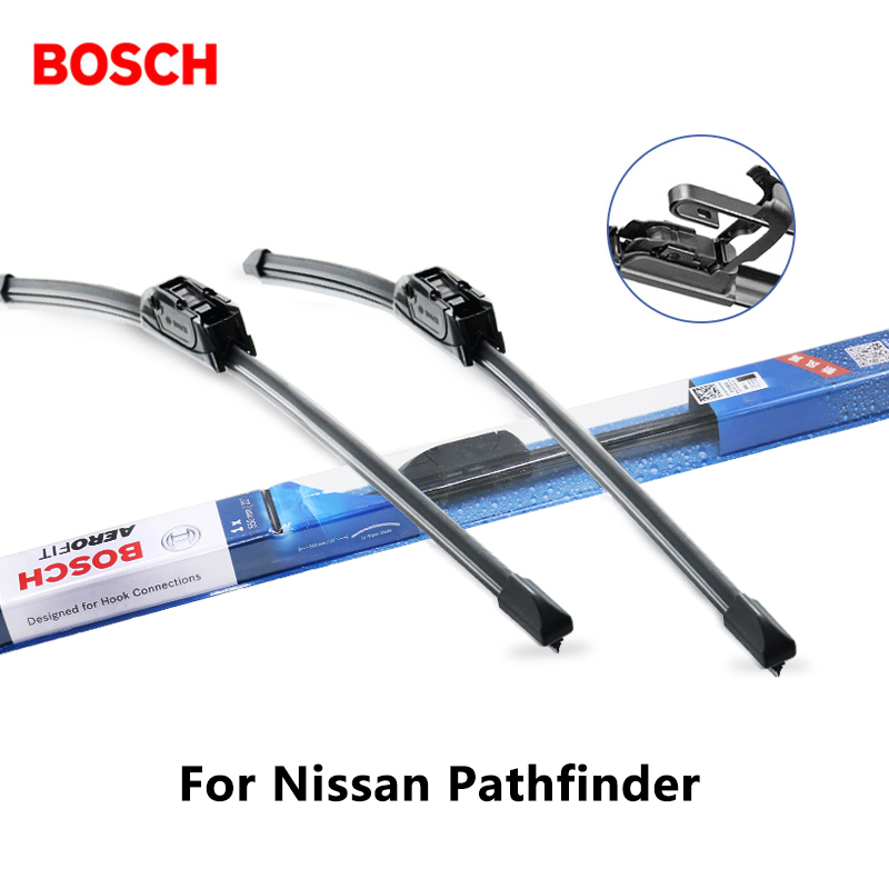 2pieces/set BOSCH Wiper Blades for Nissan Pathfinder 24&18 Fit Hook Arms 2005 2006 2007 2008 2009 2010 2011 2012