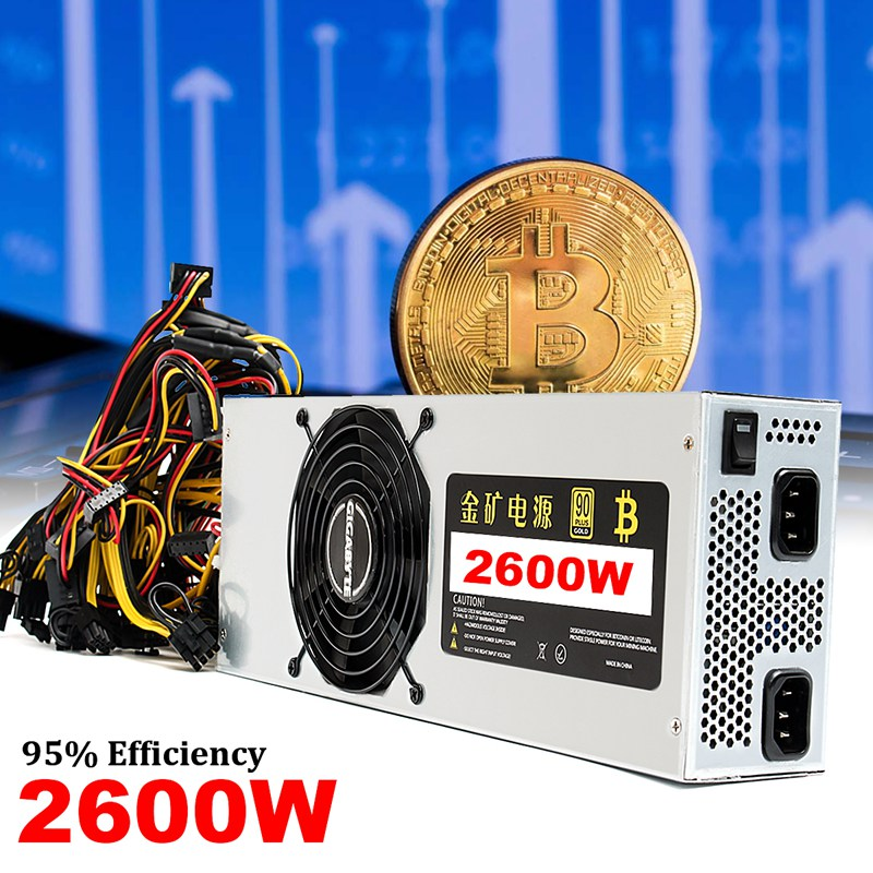 2600W Miner Power Supply For ETH ZEC S7 S9 Ethereum Coin Bitcoin Mining Machine High quality Computer power Supply For BTC 1600w psu ant s7 a6 a7 s7 s9 l3 miner machine server mining board power supply