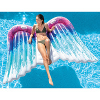 250cm 98inch Angel wing Float Swimming Float Inflatable Swimming Ring Ride on Butterfly Pool Float Tube Summer Water Toy Piscina