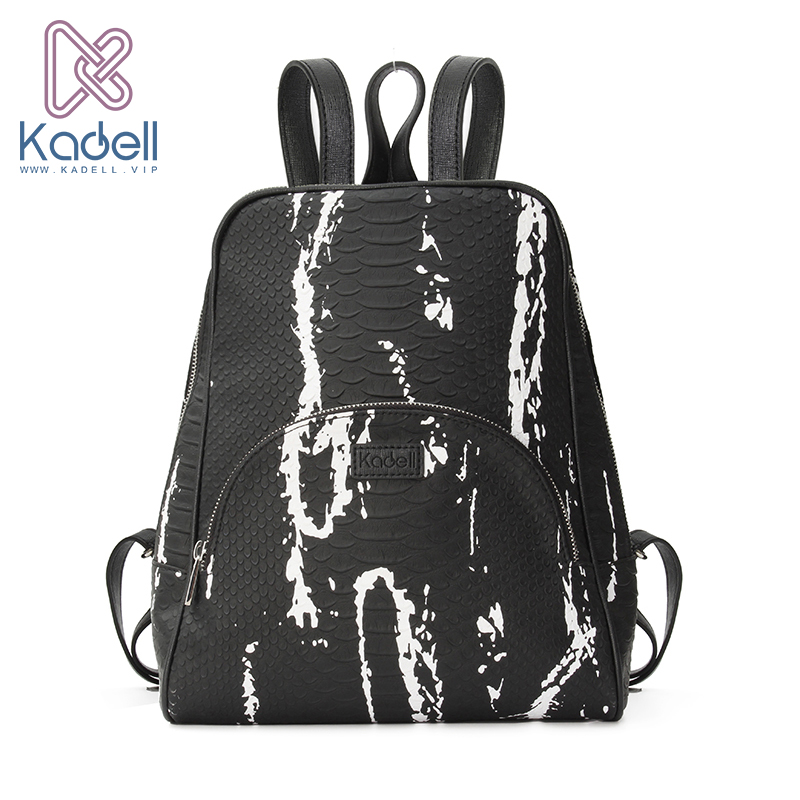 Kadell High Quality Leather Backpack Women Casual Style School Bags for Teenagers Designer Bags Famous Brand