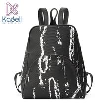 Kadell Высокое качество кожаный рюкзак Для женщин Повседневное Стиль Школьные сумки для подростков дизайнер Сумки известный бренд Винтаж рюкзак
