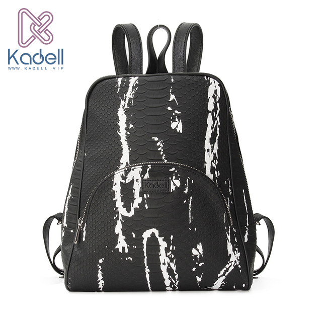 Kadell High Quality Leather Backpack Women Casual Style School Bags for Teenagers Designer Bags Famous Brand Vintage Backpack