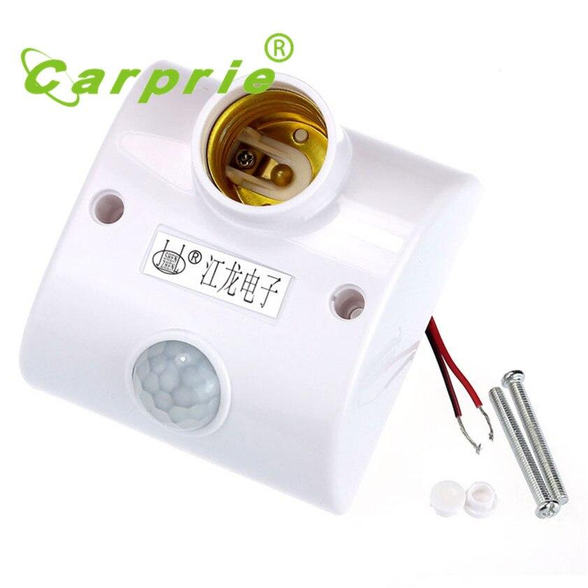 Super E27 Infrared Motion PIR Sensor Automatic LED Light Lamp Holder Switch infrared motion sensor automatic light lamp bulb holder stand switch white