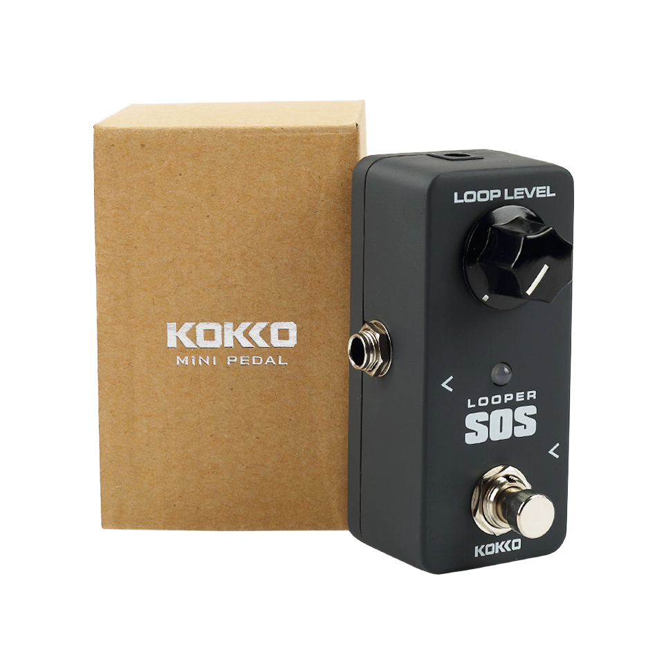 KOKKO FLP2 MINI Looper SOS Loop Guitar Effects Pedal Professional Guitarra Stompbox Accessories Ture Bypass hand made loop electric guitar effect pedal looper true bypass 3 looper switcher guitar pedal hr 1