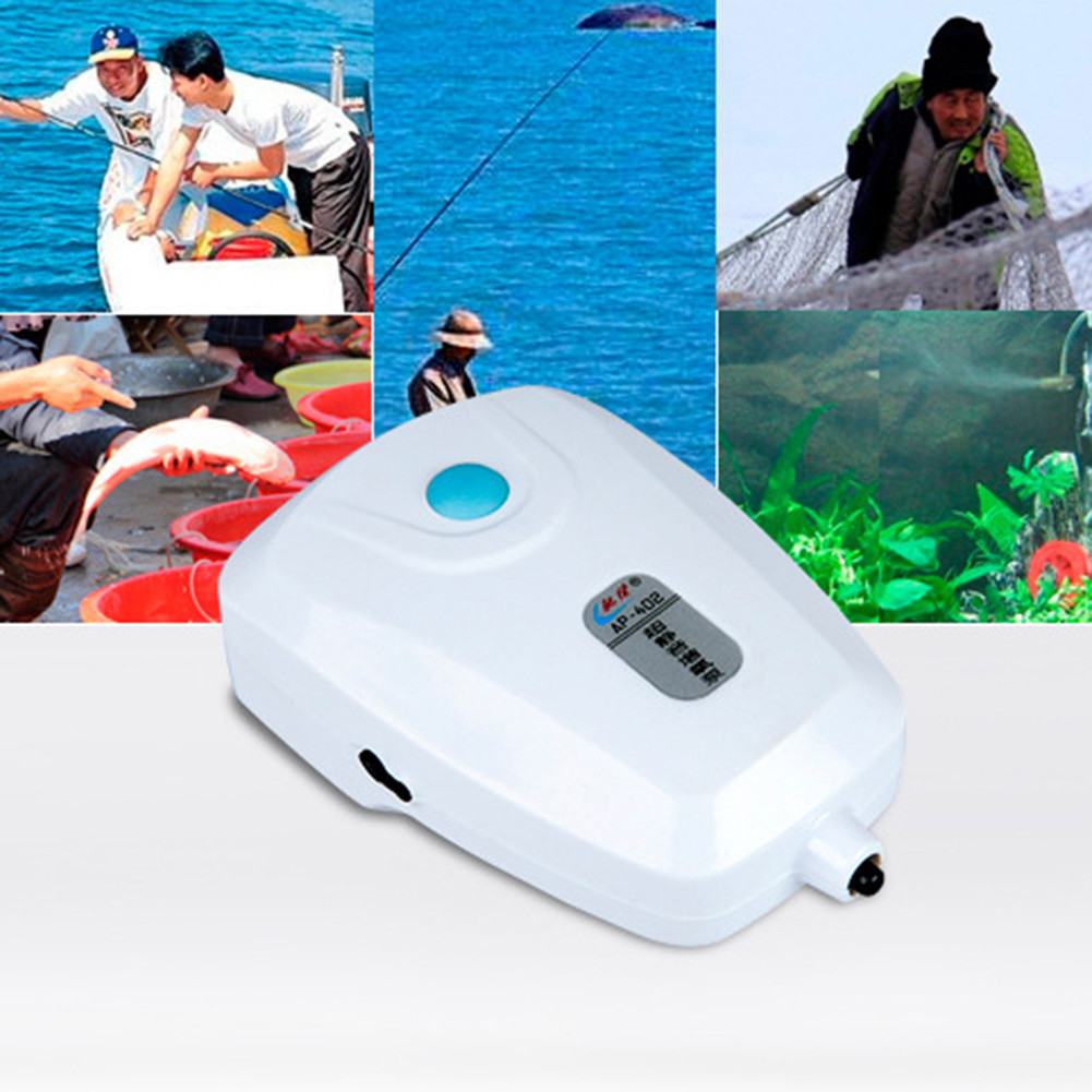 12-15 Hours Use  AC DC Dual Use Oxygen Pump Air Pump For Aquarium & Fish Tank Aquarium Oxygen Pump For Fishing Or Aquarium