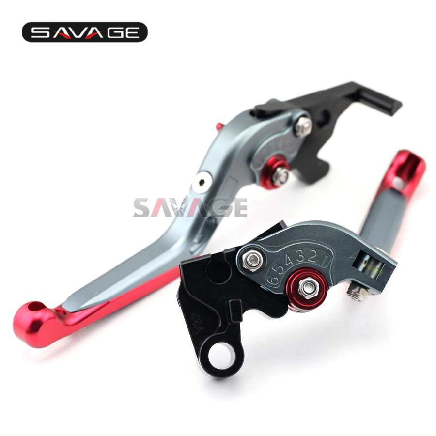 For YAMAHA YZF-R25 YZF-R3 MT-25 MT-03 2015-2016 Motorcycle Adjustable Folding Extendable Brake Clutch Levers Red+Titanium 6 colors cnc adjustable motorcycle brake clutch levers for yamaha yzf r6 yzfr6 1999 2004 2005 2016 2017 logo yzf r6 lever