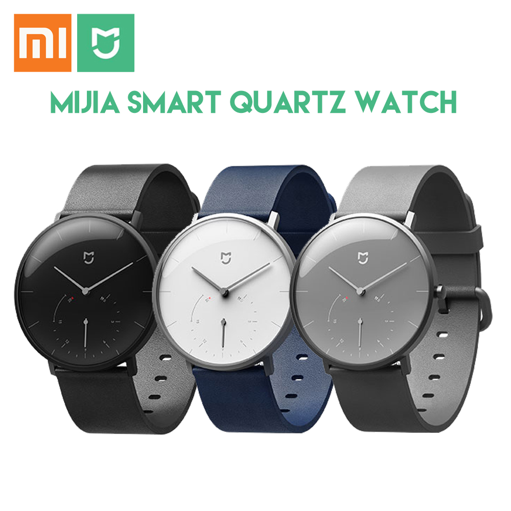 Original Xiaomi Mijia Smart Watch Waterproof 3ATM Quartz Smartwatch Bluetooth 4.0 Pedometer Wristband for Android iOS вытяжка delonghi adamello d acciaio 60