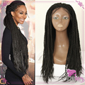 Braided Lace Front Wigs Synthetic Micro Braids Black Kinky Twist Braided Wig Glueless Hair Synthetic Lace Front Wig for Women