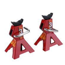 Baby Toys 2pcs 3 Ton Adjustable Height Metal Jack Stand for 1/10 RC4WD D90 SCX10 Rock For Rc Rock Crawler Truck  Car Accessory