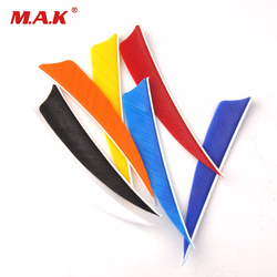 12 pcs/lot 4 Inches Turkey Feather Real Arrow Feather Vans DIY Arrow Fletching For Archery Hunting Shooting