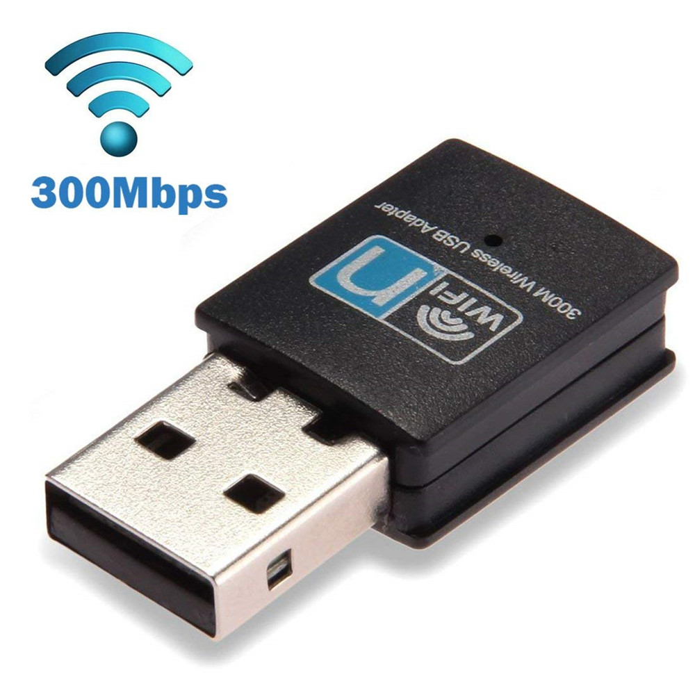 300Mbps USB WiFi Adapter Wireless Lan Network Card Adapter WiFi Dongle For Desktop Laptop PC Support Windows 10 8 7 MAC OS