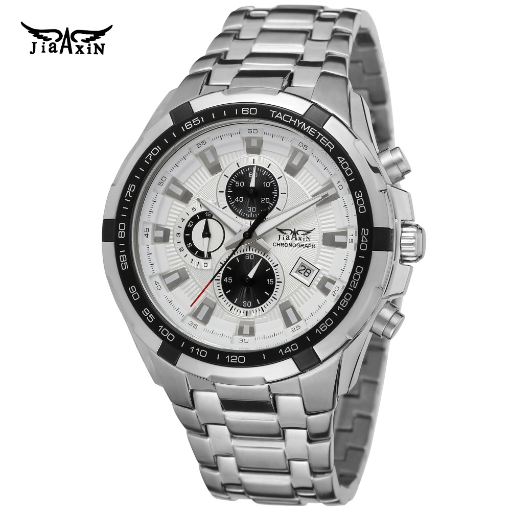 2017 mg orkina fashion men s crystal quartz stopwatches stainless steel wristwatch gift with box free ship Fashion Jiaxin Men Luxury Brand 3ATM Water Resistant Stainless Steel Watch Automatic Quartz Wristwatch Gift Box Relogio Releges