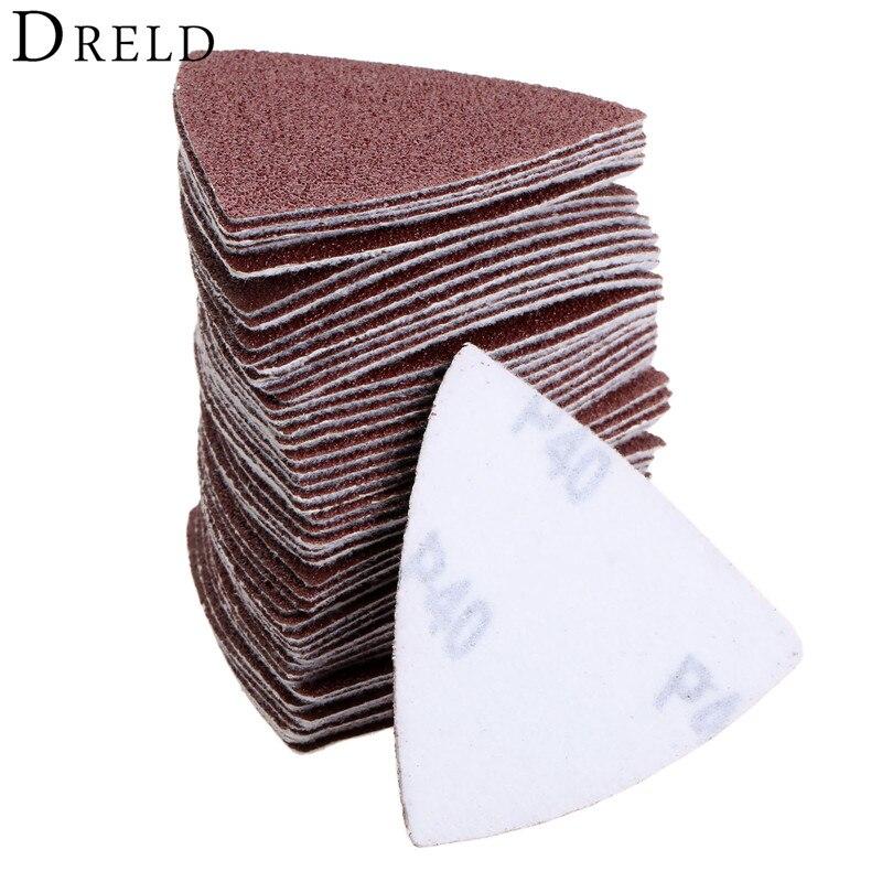 50Pcs 80mm Sanding Disc Grinding Polishing Sanding Sheets Triangle Sander Grinder Paper Abrasive Tool Grit 40/60/80/120/180/240