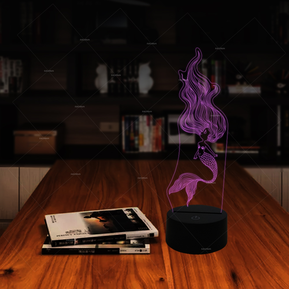 Lights & Lighting New 3d Visual Stereo Lamp Customizes Colorful Touch Controlled Atmosphere 3d Lighting Table Lamp