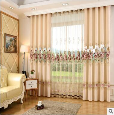 European Modern Simple Curtain For Living Room Fine Embroidery Cloth Curtain/voile  Curtain Hollow Carved Curtain In Curtains From Home U0026 Garden On ...