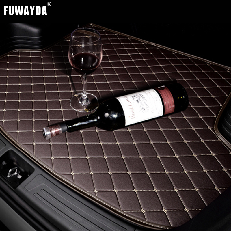 FUWAYDA car ACCESSORIES Custom fit car trunk mat for Nissan MICRA 2010 to 2015 years travel non-slip  waterproof Good quality накладки на пороги nissan micra iv 5d 2010 carbon