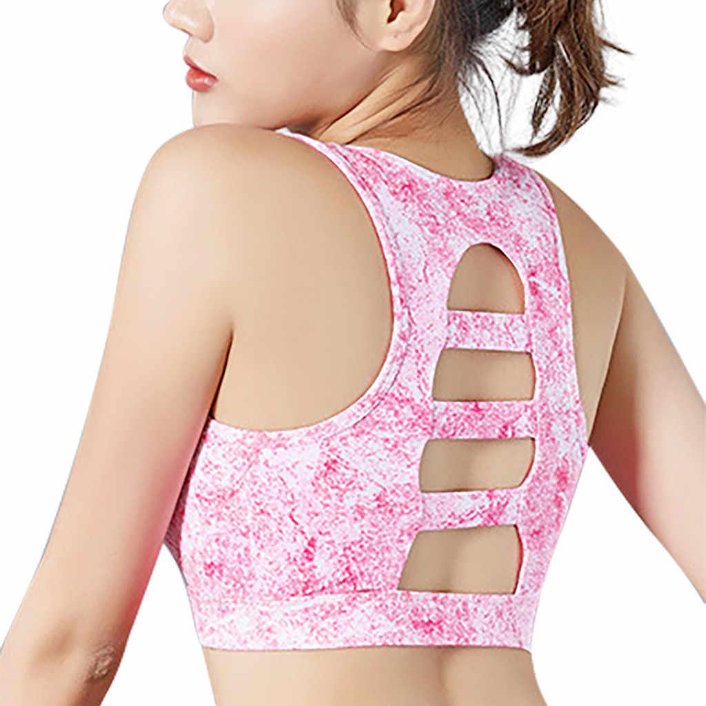KANCOOLD Vrouwen Sportbeha Hoge Stretch Ademend Top Fitness Gewatteerde Voor Running Yoga Gym Naadloze Crop Beha Gradiënt Sport Bh