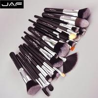 Jafプロ24ピース黒makupブラシセットpremiuimソフトファンデーションパウダーメイクアップブラシ女
