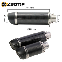 ZSDTRP 51mm Universal Motorcycle Exhaust Modified Scooter Leovince Exhaust Muffle Fit For Most Motorcycle ATV With