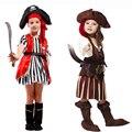 Ohcos niños pirata disfraces cosplay para la muchacha/cosplay de halloween para niños/niños disfraces cosplay Niña