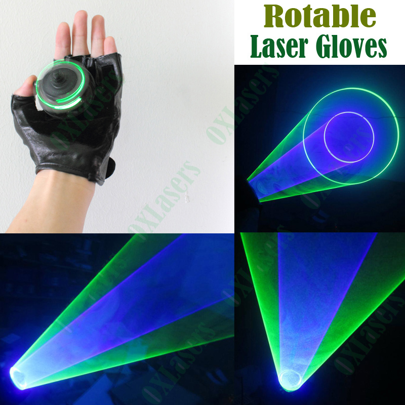 OXLasers vertex  laser gloves with mixed green & 450nm blue laser for DJ laser dancing show light  pub party laser free shipping rg mini 3 lens 24 patterns led laser projector stage lighting effect 3w blue for dj disco party club laser