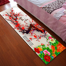 Hallway Carpet Bedroom Rugs Bedside Mat Balcony Kitchen Non-slip Pad Festive Luxurious New Chinese Style Bathroom