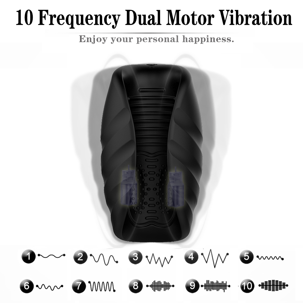 Electric Male Masturbation Cup Penis Exerciser Massager Erectile Lasting Masturbator Cup Vibrator Sex Toys For Men Adult Product (2)