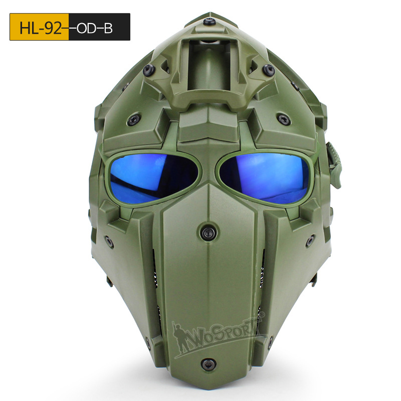 Tactical Safety Helmet with Defogging Built-in Fan OBSIDIAN GREEN GOBL TERMINATOR Helmet&Mask goggle for Military Hunting Helmet fire maple sw28888 outdoor tactical motorcycling wild game abs helmet khaki