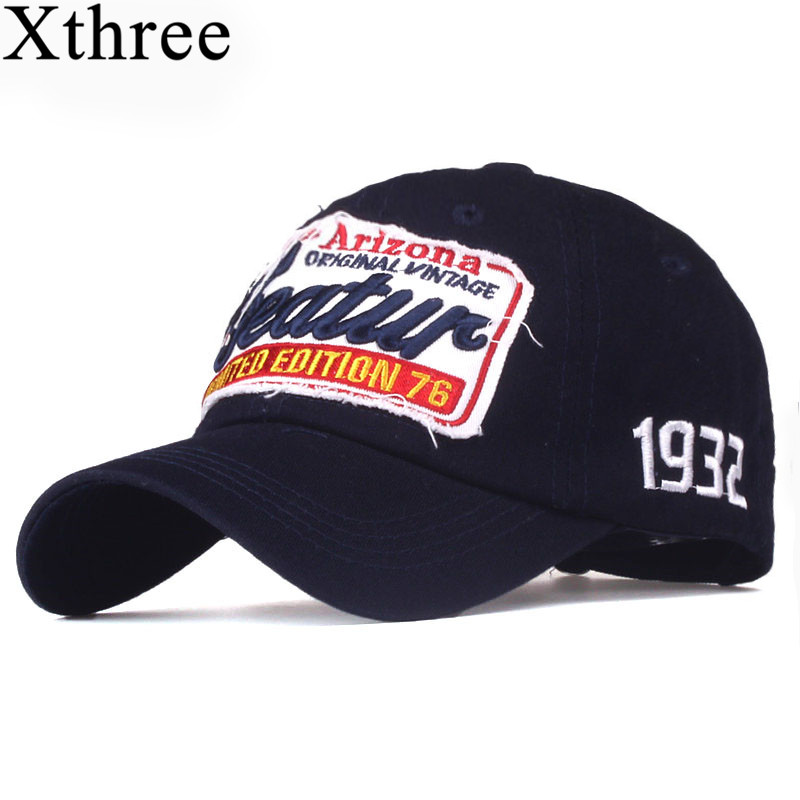 fc87d6a2df9 Xthree cotton baseball cap men casual snapback hat for women casquette  Letter embroidery gorras(China