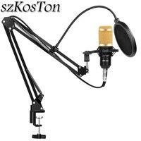 Bm 800 студийный комплект микрофона Профессиональный Регулируемый конденсаторный караоке микрофон для записи Компьютерного Вещания