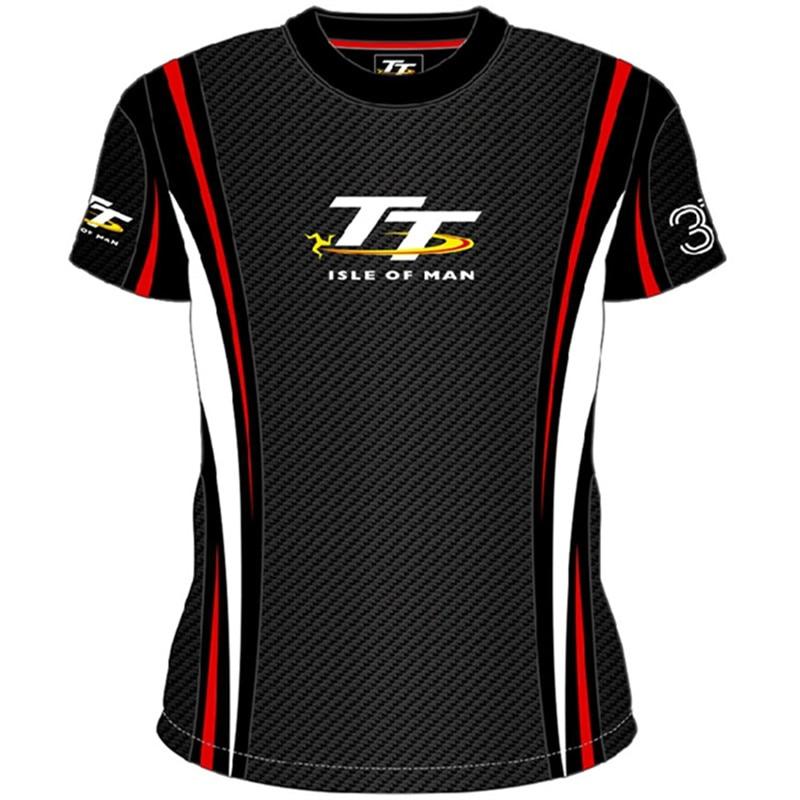 Motorcycle Isle of Man TT Gray/Black T-shirts MOTOGP Superbike World Championship T shirt Cafe Racer Moto T-shirt