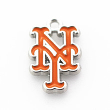 20pcs/lot Metal New York Mets MLB Baseball Team Sports Dangle Charms For Bracelet Bangle Pendant Diy Jewelry