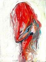 Vẽ tay Modern Tóm Tắt Sexy Girl Nude Oil Painting on Canvas Handmade Tốt Tường Tác Phẩm Nghệ Thuật Naked Hình Knife Canvas sơn