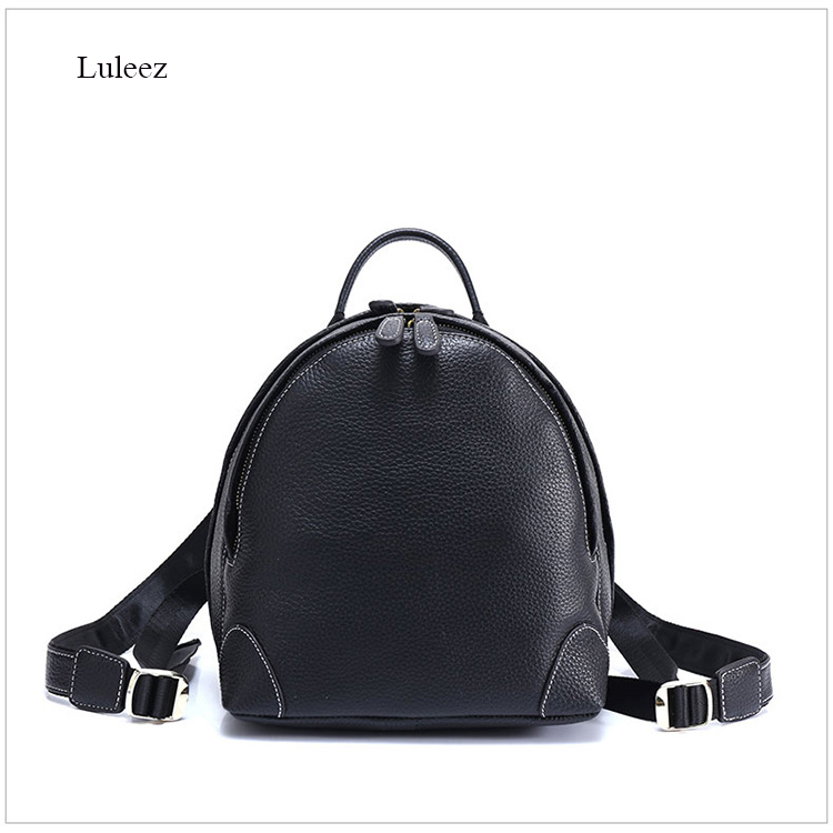 Nuleez new head layer of cow leather double shoulder bag female college multi-function vintage real leather travelling knapsack qiaobao 2018 new korean version of the first layer of women s leather packet messenger bag female shoulder diagonal cross bag