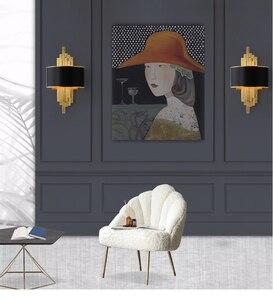 Image 3 - Светодиодный настенный светильник в виде металлической трубы для гостиной, золотистый/черный корпус, лампа для спальни, лампа для гостиной, домашний декор в стиле лофт, 90 260 В, скандинавский светильник