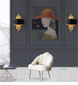 Image 3 - ท่อโลหะห้องนั่งเล่นLed Wall Light Gold/สีดำห้องนอนโคมไฟผนังSconce Loft Home Deco 90 260V Nordicโคมไฟ
