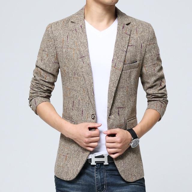 magasin en ligne beau vif et grand en style Hommes Style chinois hommes vestes hommes costume Veste hommes haut de  gamme mode tempérament Veste Homme Marque Luxe hommes costume vestes