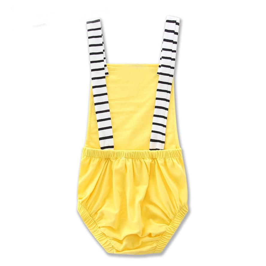 Mother nest 2018 Baby Jumpsuit Unisex Boys Girls Clothes Striped Sleeveless Rompers High Quality Cotton Baby Roupas